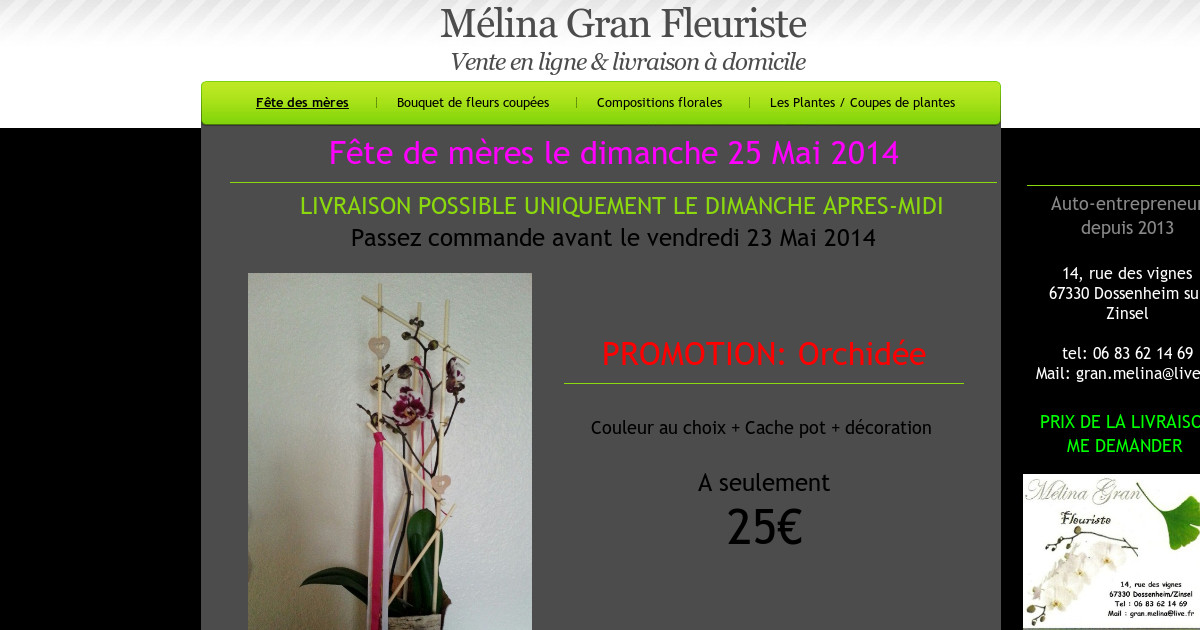 melinagranfleuriste1 f te des m res. Black Bedroom Furniture Sets. Home Design Ideas